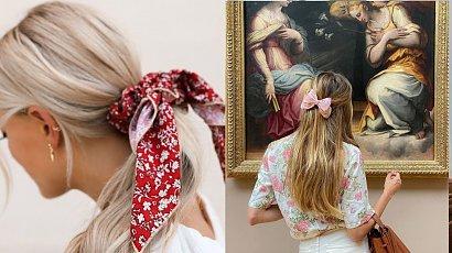 Włosy spięte kokardą - najbardziej dziewczęcy look tej jesieni!