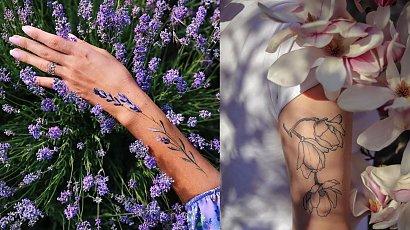 Kwieciste tatuaże - te nigdy nie wychodzą z mody!