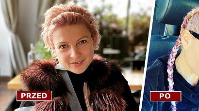 Magda Narożna znów zaszalała z fryzurą! Pixie bob to już przeszłość! Pasują jej fioletowo-różowe warkocze?