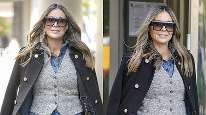 Małgorzata Rozenek w stylizacji innej niż zwykle! Jeansy i kamizelka to sztos, ale chodaki Gucci psują efekt. Znamy ceny i marki!