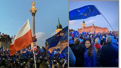 Kinga Rusin punktuje rząd na manifestacji. Padły OSTRE słowa!