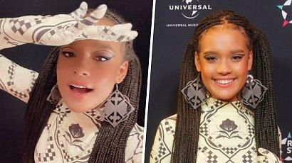 """Sara Egwu-James w oryginalnej stylizacji i warkoczykach na gali """"Rising Star""""! Wygląda na 13 lat?"""