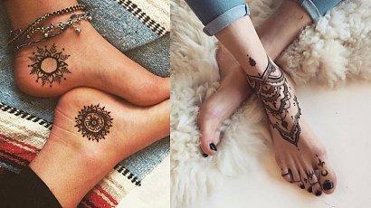 Tatuaże idealne na stopę - najmodniejsze wzory!