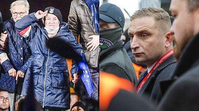 Protesty za pozostaniem w UE: Wanda Traczyk-Stawska do Bąkiewicza: Milcz, głupi chłopie, chamie skończony!