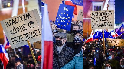 """Protesty """"My zostajeMY w EU"""": Tak wyglądał protest w Warszawie! Zdjęcia i najlepsze hasła"""