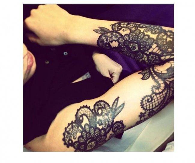 Tatuaż Koronkowy Wzory Dla Kochających Eleganckie Tatuaże