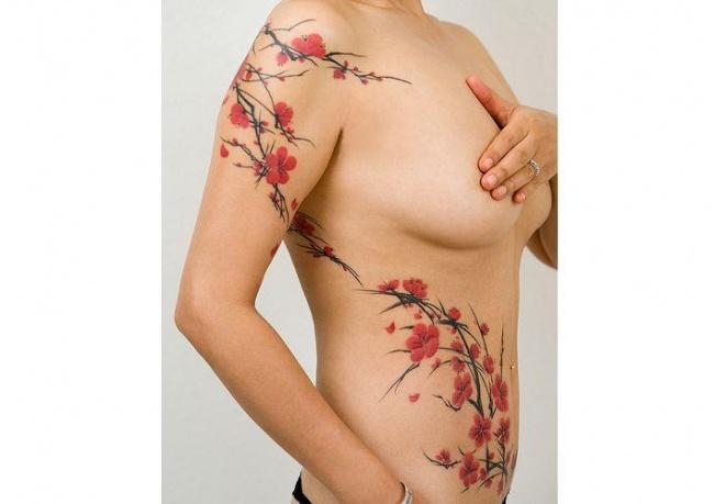 Hot Japońskie Tatuaże Z Motywem Kwitnącej Wiśni