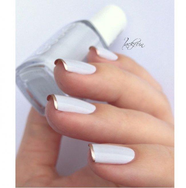 Biały Manicure Eleganckie Wzorki Na Paznokcie Do ślubu Na Wesele