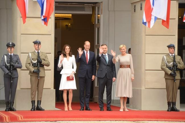 Księżna Kate, książę William, Andrzej Duda, Agata Duda