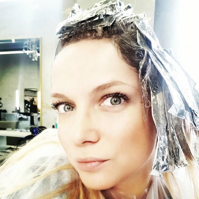 Joanna Liszowska u fryzjera