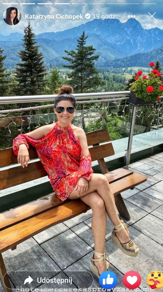 Aktorka wypoczywa w hotelu w Zakopanem...