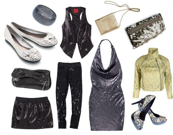 balerinki DeeZee; bransoletka Stereo; spódnica i kamizelka s.Oliver; torebka z kokardą Orsay; leginsy, marynarka i pantofle H&M; sukienka i złota torebka Reserved; kopertówka Stefanel