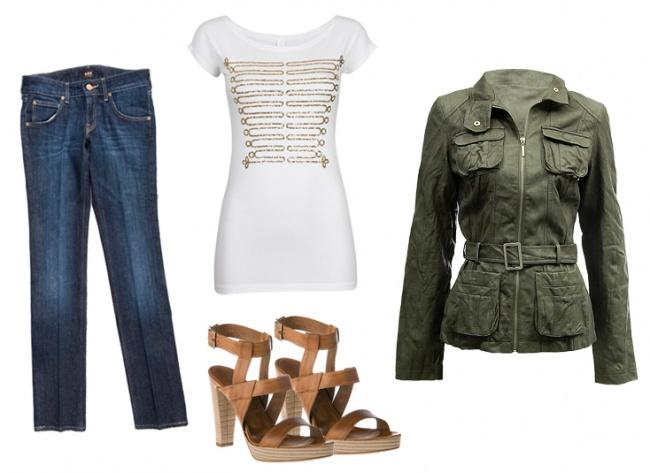 Spodnie: Lee; bluzka: Cubus; buty: Prima Moda; kurtka: Tally Weijl