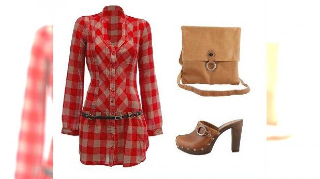 sukienka: Tally Weijl; buty, torebka: Prima Moda
