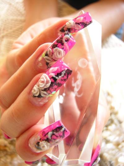 kwiatki akrylowe róże