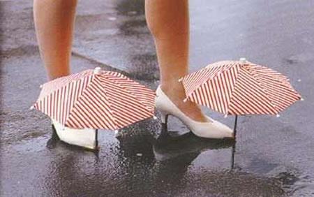 Buty z parasolką