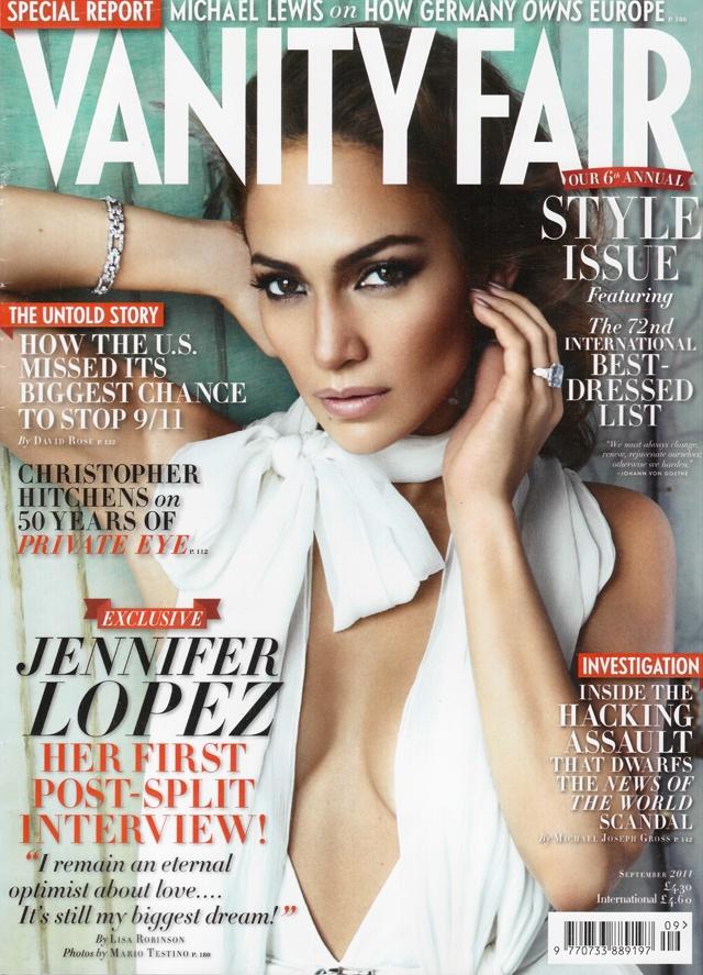 Jennifer Lopez na okładce Vanity Fair