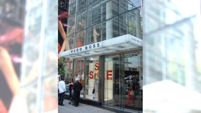 sklep Hugo Boss w Nowym Jorku