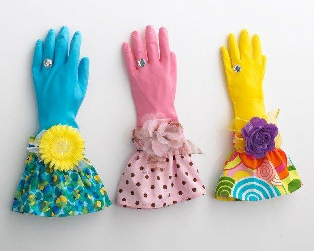Gumowe rękawice
