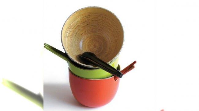 bambusowe miski