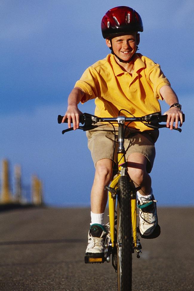 Boy Riding Mountain Bike
