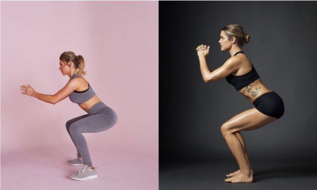 b01b10ba7931df Podczas przysiadu kolana nie mogą wysuwać się poza linię stóp, pamiętajmy  też, by cały czas napinać mięśnie brzucha. To ćwiczenie na cellulit należy  wykonać ...