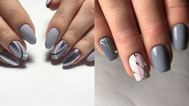 szary manicure