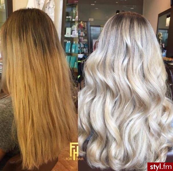 Duża zmiana,koloryzacja wykonana przez Małgosię - Blond Rozpuszczone Proste Na co dzień Długie Fryzury