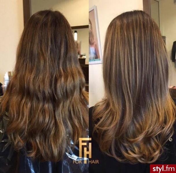 Sombre z Olaplex salon For Hair http://forhairsobieski.pl/ - Brązowe Rozpuszczone Proste Na co dzień Długie Fryzury