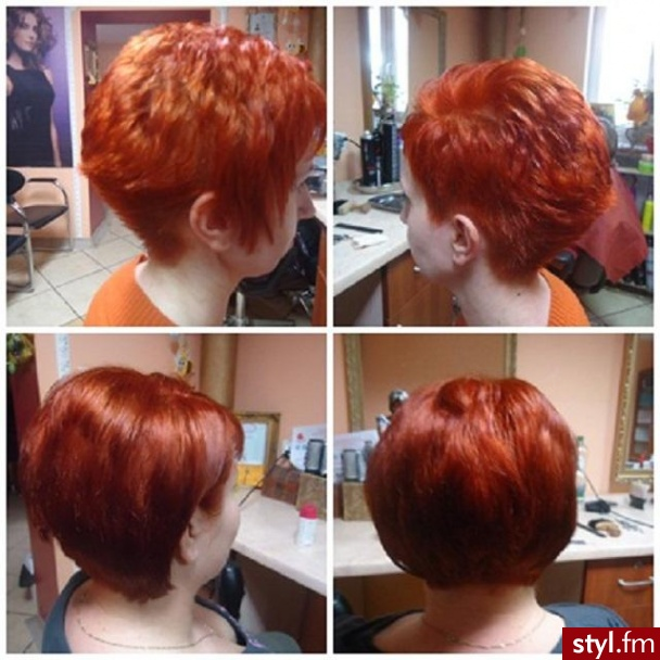 Fryzury Rude Włosy Fryzury Krótkie Na Co Dzień Proste