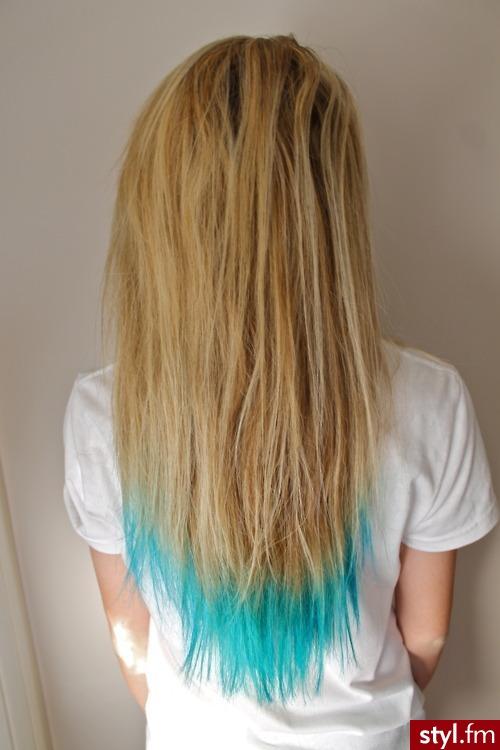 Blond EMO Alternatywne Długie Fryzury