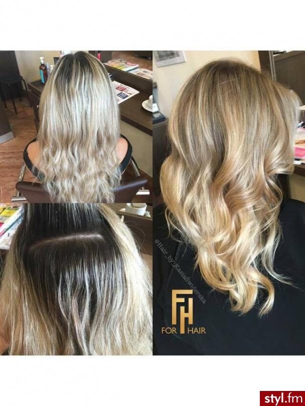 http://forhairsobieski.pl/ KOLORYZACJA SOMBRE Z OLAPLEX WARSZAWA FOR HAIR - Blond Rozpuszczone Kręcone z grzywką Na co dzień Długie Fryzury