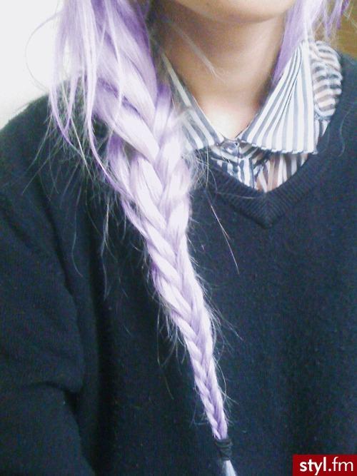 Kolorowe EMO Alternatywne Długie Fryzury