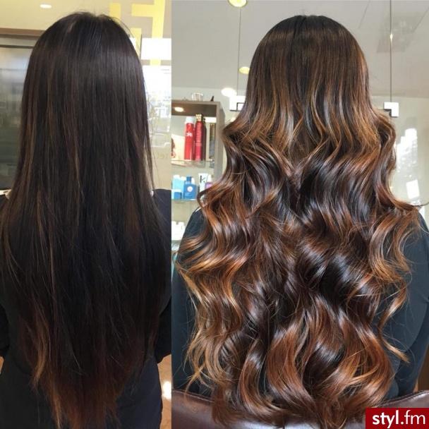 Piękne sombre na włosach długich. https://forhairsobieski.pl/ - Rozpuszczone Kręcone Wieczorowe Długie Fryzury
