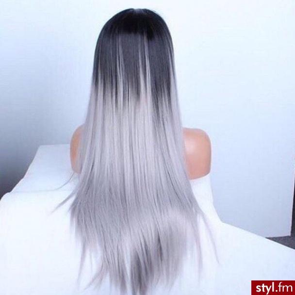 Kolorowe Rozpuszczone Proste Na co dzień Długie Fryzury