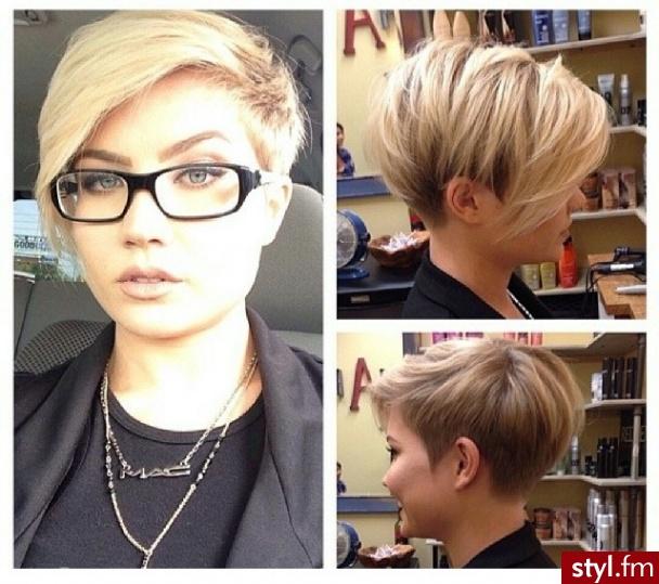 Fryzury Blond Włosy Fryzury Krótkie Na Co Dzień Proste Z Grzywką