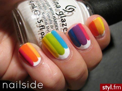 Rainbow ;) - Naturalne Paznokcie