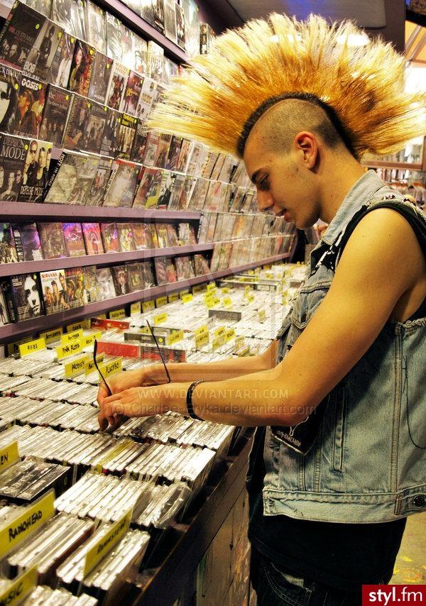 Punk Rock Alternatywne Średnie Fryzury