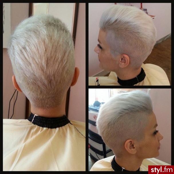 Fryzury Blond Włosy Fryzury Krótkie Na Co Dzień Proste Irokez