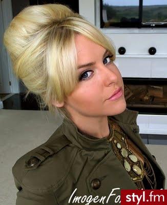 Blond Upięcie Proste z grzywką Wieczorowe Krótkie Fryzury