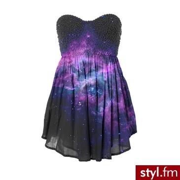 galaxy dress - Wieczorowe Sukienki Moda