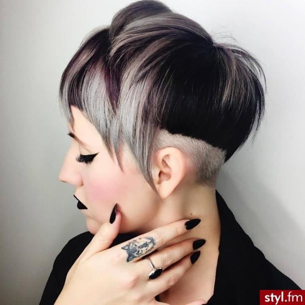 Kolorowe Punk Rock Alternatywne Krótkie Fryzury