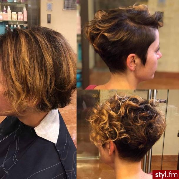 Piękne sombre na włosach długich. https://forhairsobieski.pl/ - Brązowe Rozpuszczone Kręcone z grzywką Na co dzień Krótkie Fryzury