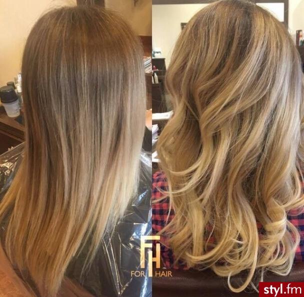 Koloryzacja z pielęgnacją olaplex, fryzurę wykonała Julia - Brązowe Rozpuszczone Proste Na co dzień Długie Fryzury