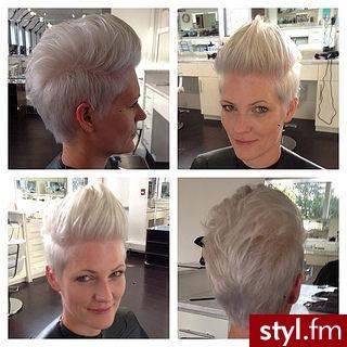 Blond Irokez damski Proste Na co dzień Krótkie Fryzury