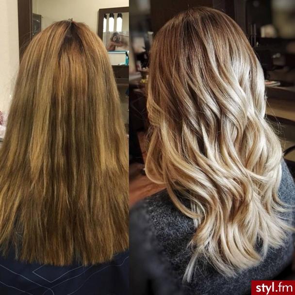 Najlepsze blondy w Warszawie salon For Hair - Blond Rozpuszczone Kręcone Na co dzień Długie Fryzury