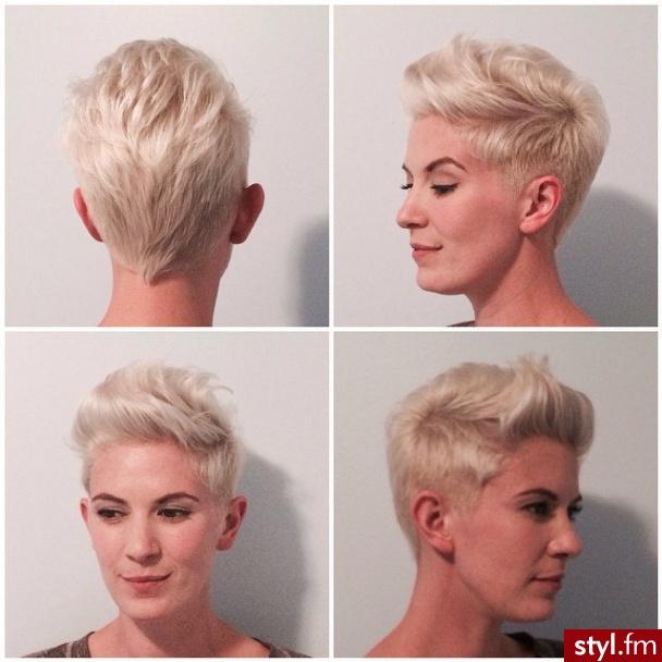 Fryzury Blond Włosy Fryzury Kr 243 Tkie Na Co Dzień Proste