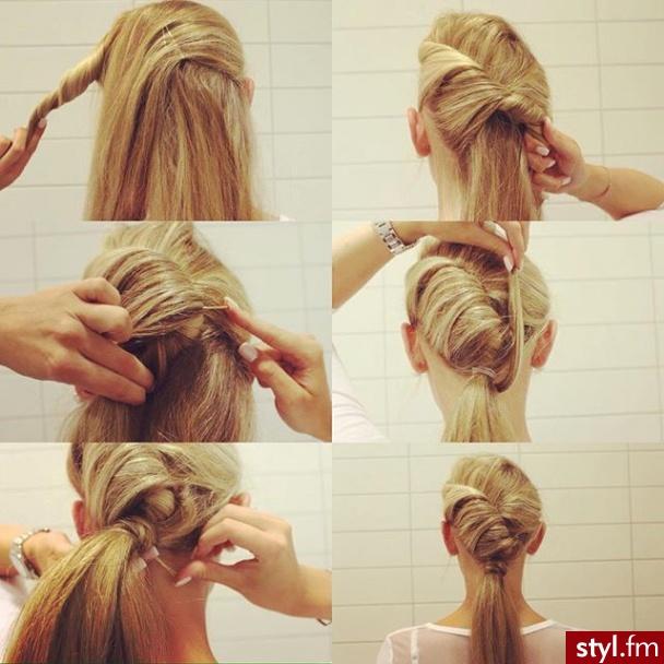 Fryzury Upięcie Włosy Fryzury Długie Na Co Dzień Proste