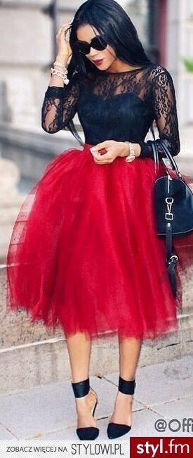 Średnie Spódnice Moda