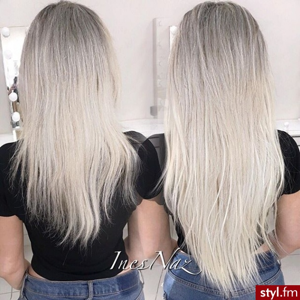 Blond Rozpuszczone Proste Na co dzień Długie Fryzury